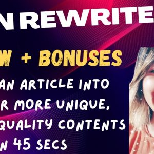 Spin Rewriter 11 Review & Custom Bonuses📦📦📦 More Content More Traffic for Content Creators👾👾👾