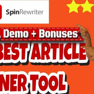 Spin Rewriter 11 Review🎓Best Article Spinner Tool 2020🎓Real User!