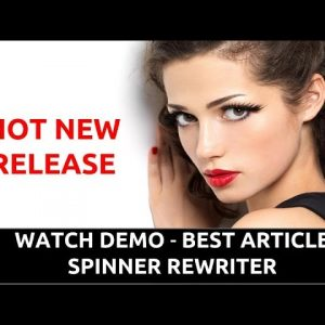 ARTICLE REWRITER DEMO VIDEO - Spin Rewriter 5.0 Review