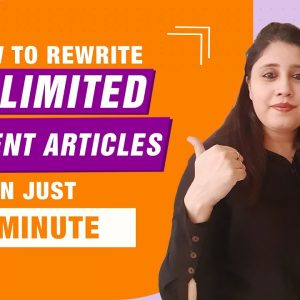 Article Spinning | Rewrite Articles Automatically [Best Tool 2021]