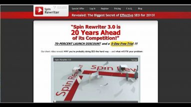 The Best Free Online Article Spinner For PC or Mac - Spin Rewriter 5.0 Review