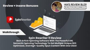 Spin Rewriter 11 Walkthough 2021   Article Rewriter with ENL Semantic Spinning