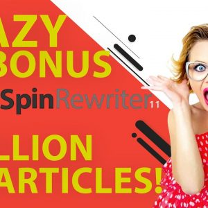 Spin Rewriter 11 Review - Bonus of Bonuses 🔥 8 Million PLR Articles 🔥 To Use In Spin Rewriter 11!