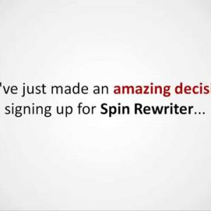Free SEO Lesson for new Spin Rewriter users, plus Rankings Done Right