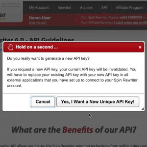 How to change your Spin Rewriter API key