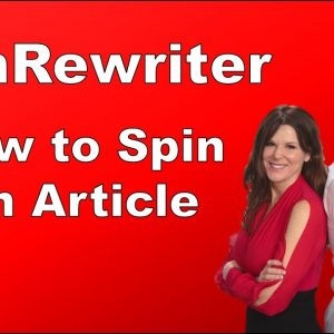 How to Spin An Article | Article Spinner Spin ReWriter Review