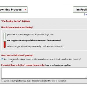 """How To Use The """"I'm Feeling Lucky"""" Option? [Spin Rewriter Tutorial]"""
