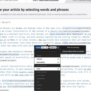 How to spin articles manually: words and phrases (in Step 2) - Spin Rewriter tutorial