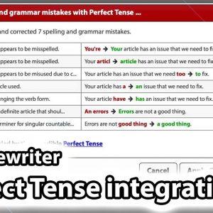Perfect Tense integration inside Spin Rewriter