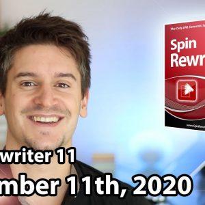 Spin Rewriter 11 Launch - November 11th, 2020 - JV
