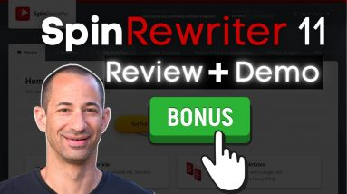 Spin ReWriter 11 Review |  Spin Rewriter Article Spinner Tutorial 2021