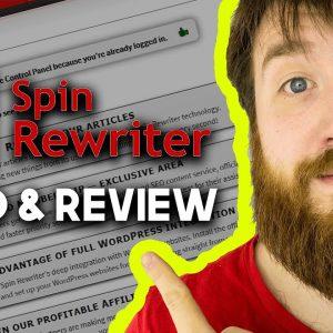 SPIN REWRITER DEMO & REVIEW (ALSO GRAMMARLY!)