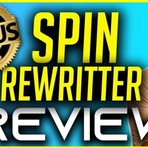 Spin Rewriter Review | Spin Rewriter 9.0 Tutorial and Bonuses