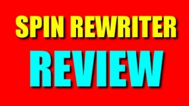 Spin Rewriter Review: Spinning A Article With Spin Rewriter