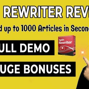 Spin Rewriter Review With Huge Spin Rewriter Bonuses