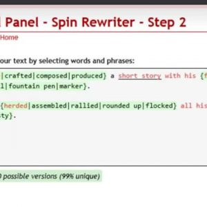 Spin Rewriter Tutorial Review By Aaron Sustar September 2011