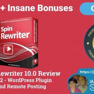 Spin Rewriter 10 Review - OTO2 Demo - WordPress Plugin and Remote Posting Spin Rewriter 10 Demo