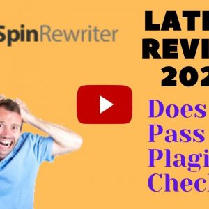 Spin Rewriter Review & Demo (Latest 2020) - Does It Pass The Plagiarism Checker?