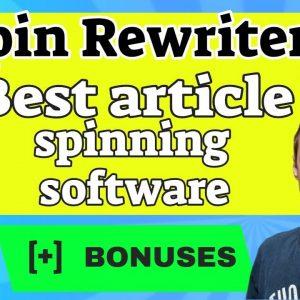 Spin Rewriter 10 – Best Article Spinner Software