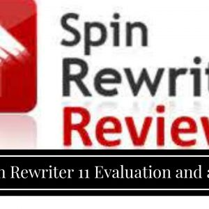 Spin Rewriter 11  Evaluation  and also  demonstration