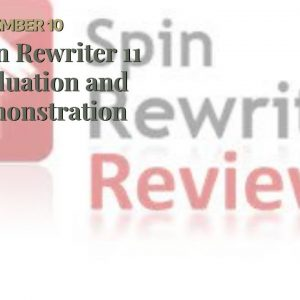 Spin Rewriter 11  Evaluation and  demonstration