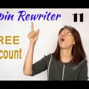 Spin Rewriter 11 Free Account - 5 Day Free Trial with Spin Rewriter 11