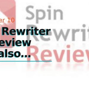Spin Rewriter 11 Review  and also demo