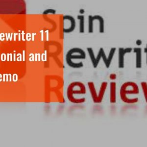 Spin Rewriter 11  Testimonial  and also demo