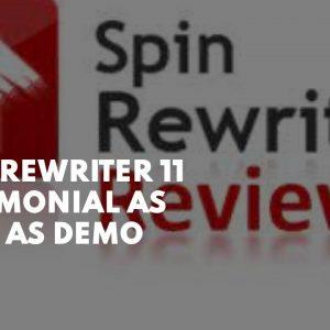 Spin Rewriter 11  Testimonial  as well as demo