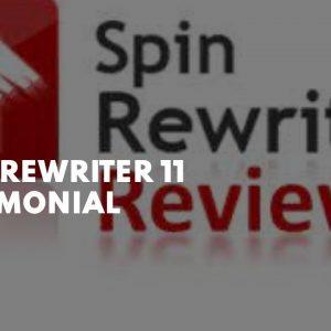 Spin Rewriter 11  Testimonial