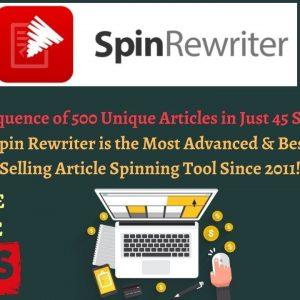 ✍️ ''Spin Rewriter'' Review + Bonus Bundle 🛑500 Unique Articles in 45s! Check It Out 🎁